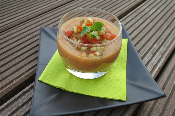 Verrine de gaspacho
